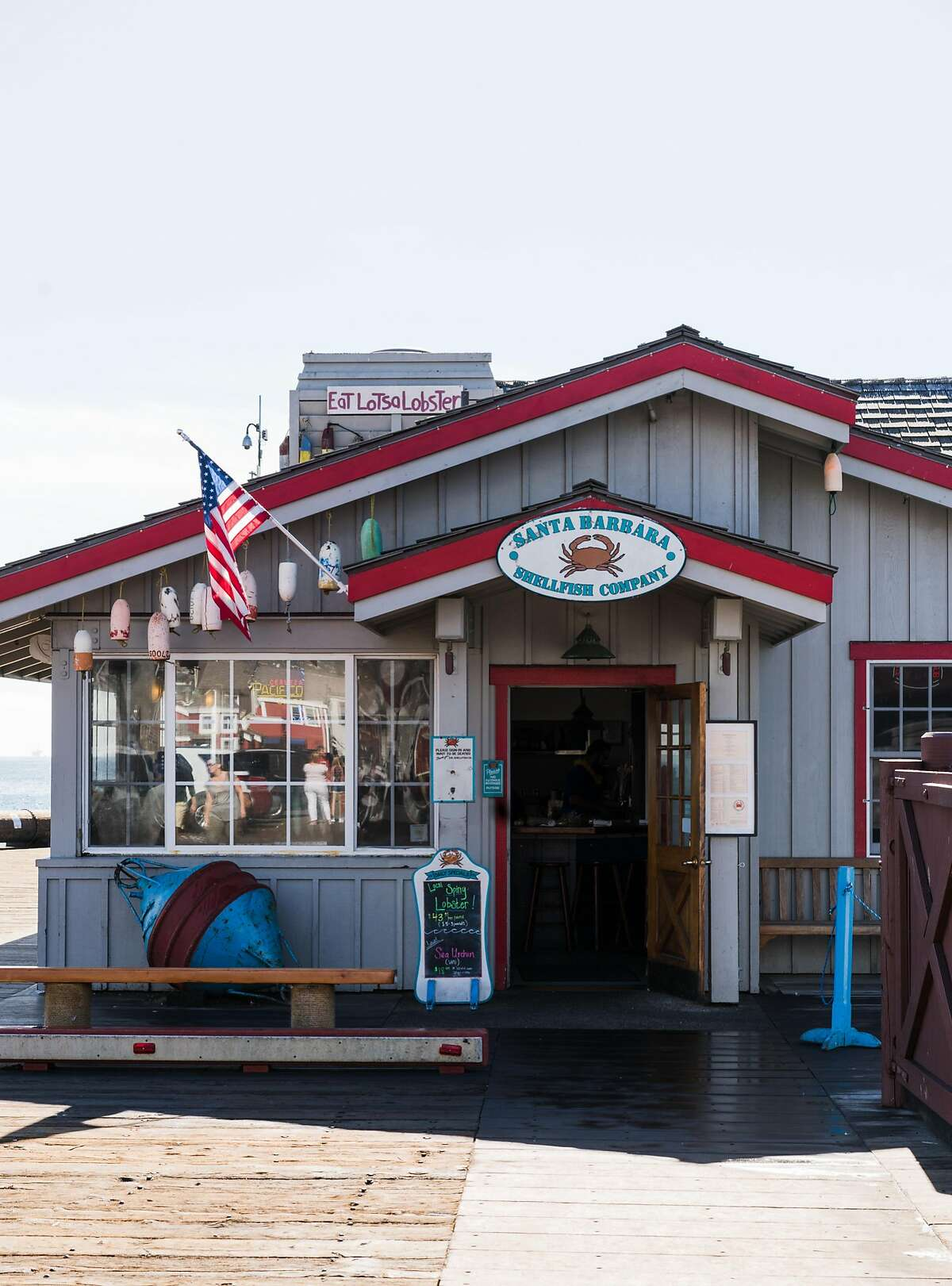 The Santa Barbara Shellfish Company on Stearns Warf.