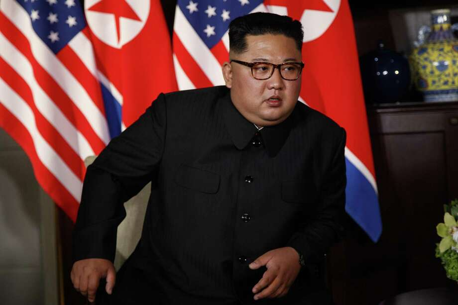 North Korean leader Kim Jong Un listens to President Donald Trump during a meeting on Sentosa Island, Tuesday, June 12, 2018, in Singapore. Photo: Evan Vucci, STF / Associated Press / Copyright 2018 The Associated Press. All rights reserved.