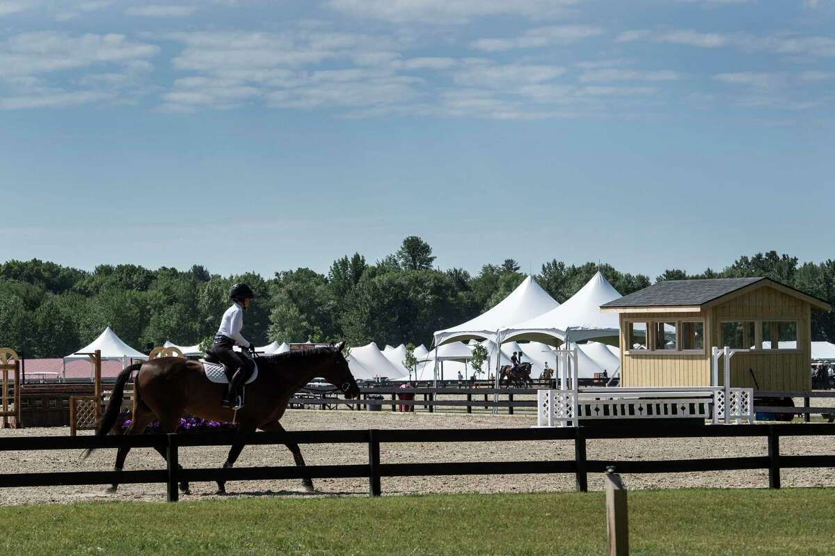 A large number of new show rings and schooling areas have been built at the new site of the Skidmore College Saratoga Classic Horse Show at the White Hollow Farm Tuesday June 12, 2018, in Stillwater, N.Y. (Skip Dickstein/Times Union)