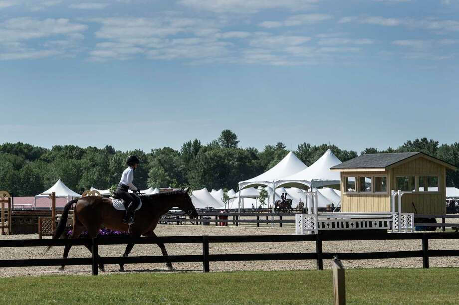A large number of new show rings and schooling areas have been built at the new site of the Skidmore College Saratoga Classic Horse Show at the White Hollow Farm  Tuesday June 12, 2018, in Stillwater, N.Y.  (Skip Dickstein/Times Union) Photo: SKIP DICKSTEIN / 20043883A