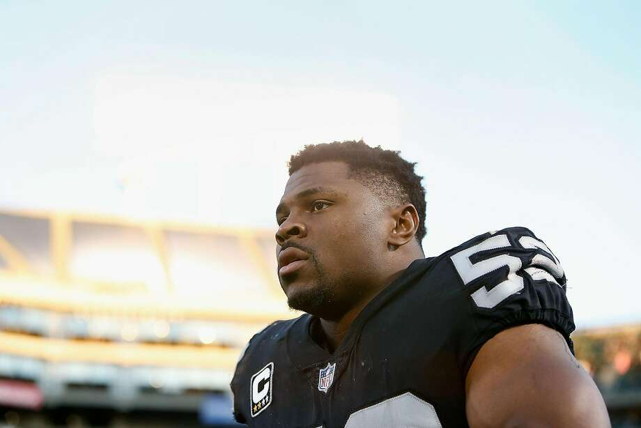 OAKLAND, CA - DECEMBER 03: Khalil Mack #52 of the Oakland Raiders leaves the field after a win against the New York Giants at Oakland-Alameda County Coliseum on December 3, 2017 in Oakland, California. (Photo by Lachlan Cunningham/Getty Images) Photo: Lachlan Cunningham / Getty Images