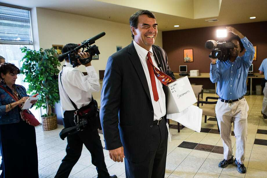 Venture capitalist Tim Draper during his earlier effort to split California into six states. His measure to divide California into three states has qualified for the November 2018 ballot. Photo: Max Whittaker/Prime / Special To The Chronicle