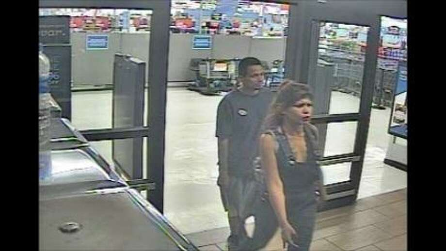 Laredo police said they need to identify these two people in connection with a theft case at a local Walmart. Photo: Courtesy Photo /Laredo Police Department