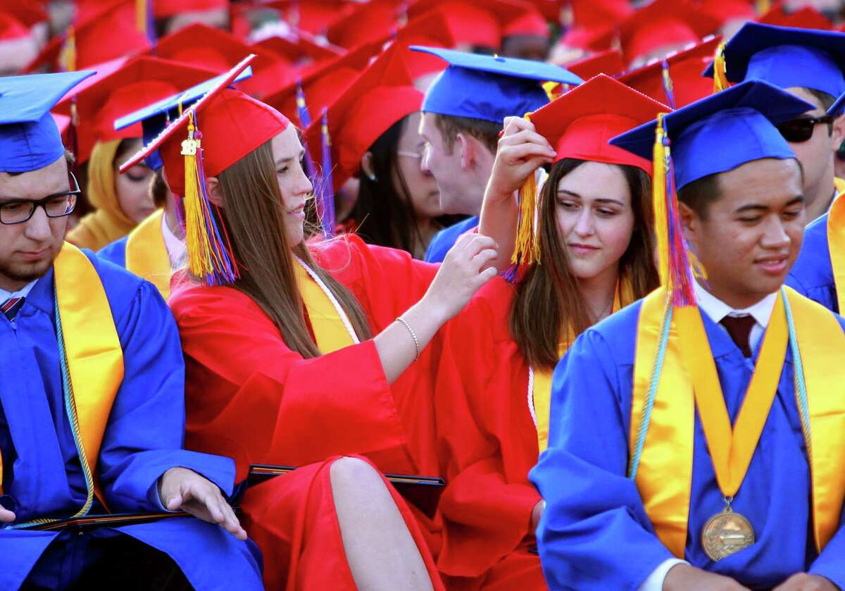 Foran High School's Class of 2018 Graduation ceremony in Milford, Conn., on Tuesday, June 12, 2018.