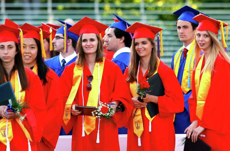 Foran High School's Class of 2018 Graduation ceremony in Milford, Conn., on Tuesday, June 12, 2018. Photo: Christian Abraham, Hearst Connecticut Media / Connecticut Post
