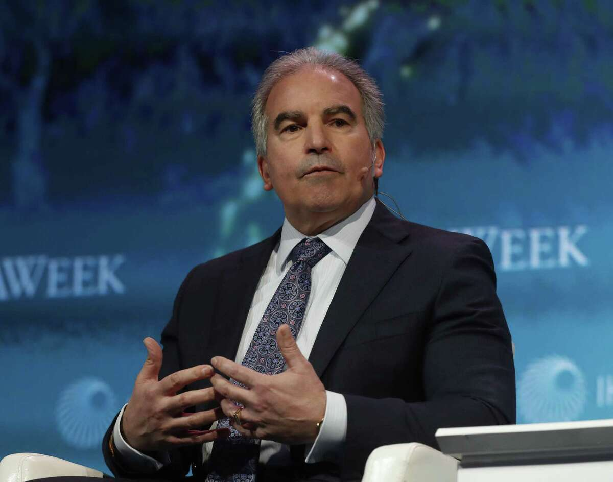 Jack Fusco, President and CEO of Cheniere speaks on a panel about the future of natural gas at the CERAWeek conference at the Hilton Americas, Wednesday, March 7, 2018, in Houston. ( Karen Warren / Houston Chronicle )