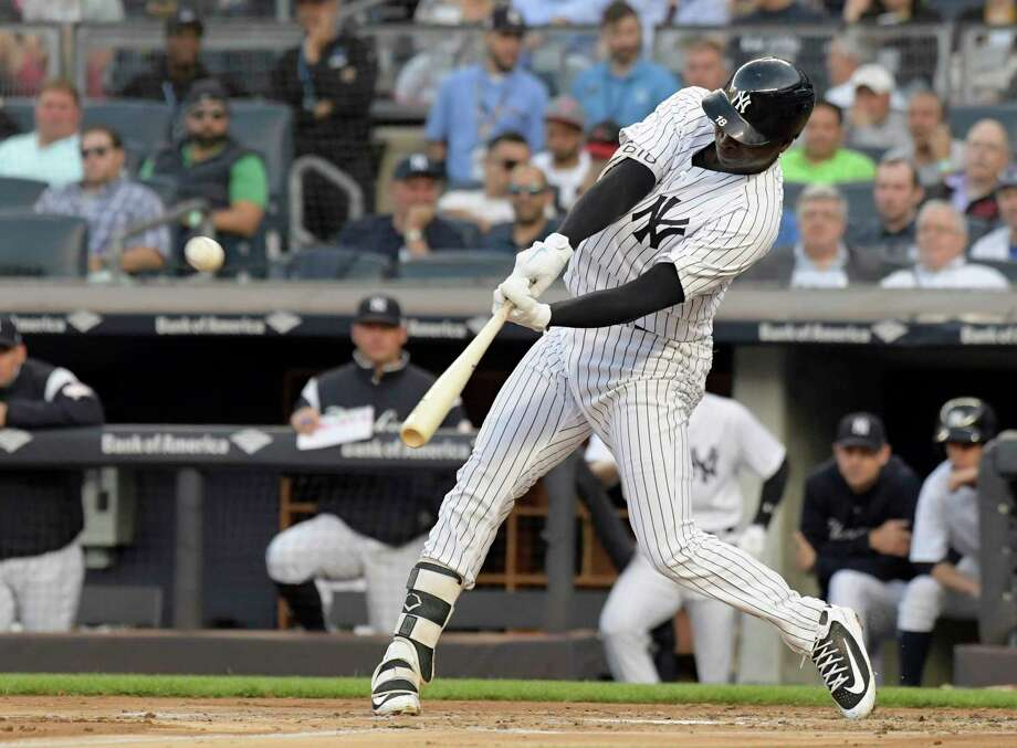 New York Yankees' Didi Gregorius hits a home run during the second inning of the team's baseball game against the Washington Nationals on Tuesday, June 12, 2018, at Yankee Stadium in New York. (AP Photo/Bill Kostroun) Photo: Bill Kostroun / FR51951 AP