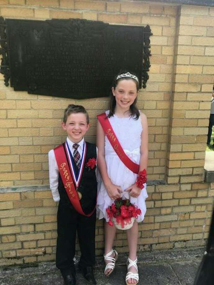 The 2018 Poppy king, Austin Tague, 7, and queen, Sydney Tague, 9. (photo provided)