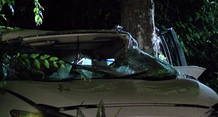 A man died in Conroe after crashing into a tree on Tuesday, June 12, 2018.