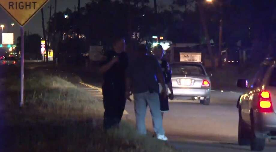 A chase ended in Missouri City on Tuesday, June 12, 2018, as part of an ongoing Houston police investigation. One of two suspects was killed. Photo: Metro Video