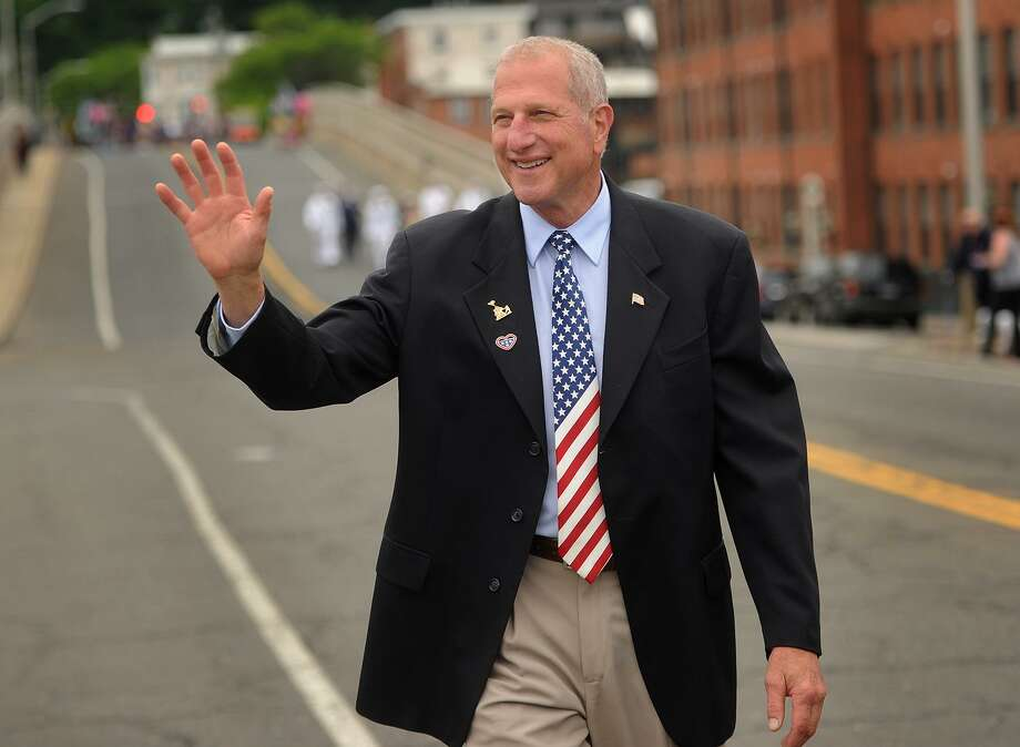 Shelton mayor and Republican gubenatorial hopeful Mark Lauretti marches in the annual Derby-Shelton Memorial Day Parade in Shelton, Conn. on Monday, May 28, 2018. Photo: Brian A. Pounds / Hearst Connecticut Media / Connecticut Post