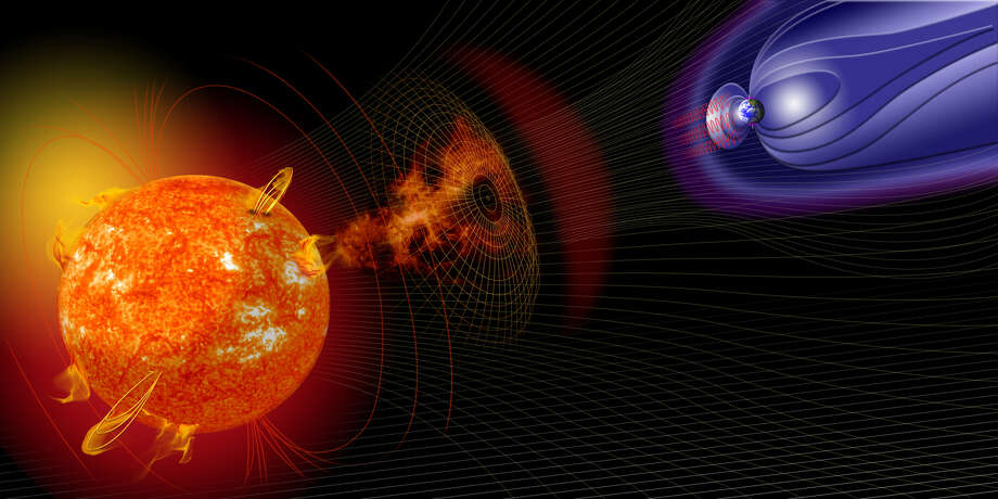 Illustration of events on the sun changing the conditions in Near-Earth space. Photo: NASA