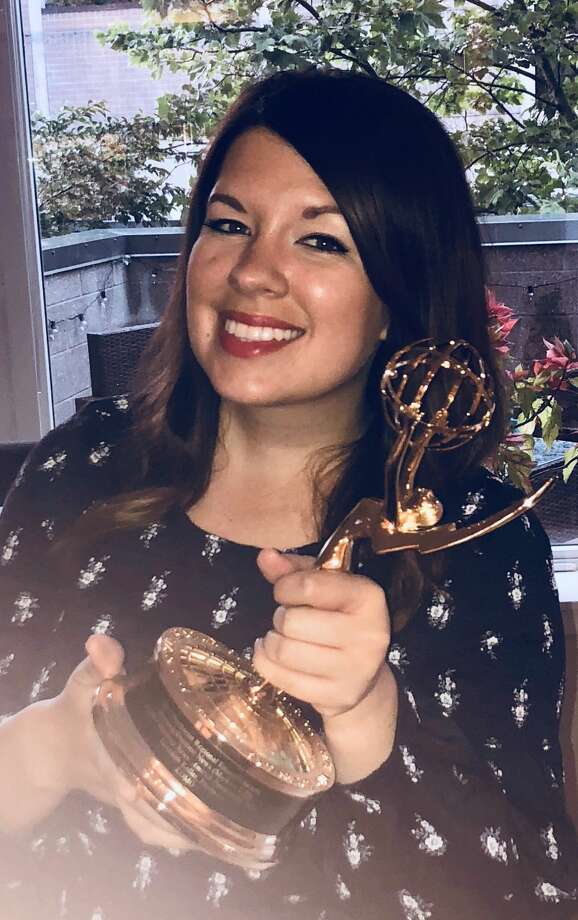 Meredith Keller, a 2005 graduate of Plainview High School, won her first Emmy is in the Breaking News category for Morning/Daytime News in Markets 1-20. Photo: Courtesy Photo