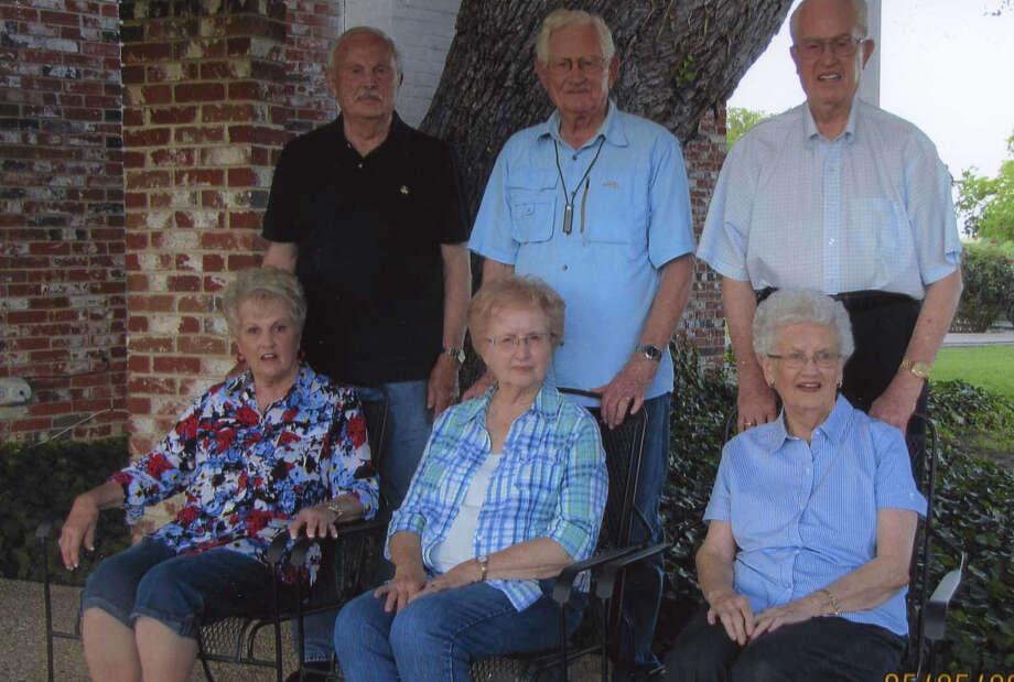 "The six children of Carl and Laura Schneider who grew up in Plainview during the Depression include Grace (front left), age 91; Joyce, 84; JoAnn, 81; Glen (back left), 90; Clyde, 88; and Finis, 86. Their stories are recounted in ""Little House on the High Plains,"" written by Sharilyn and Robbie Grayson with Major Gen. Carl Glen Schneider. Photo: Courtesy Photo"