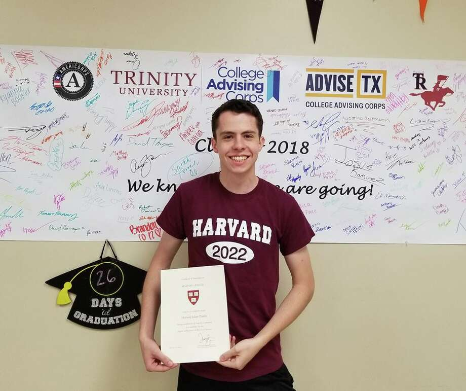 San Antonio's Howard Timlin, from Roosevelt High School in the North East Independent School District, was among 2,000 applicants admitted into Harvard.  Meet the 2018 San Antonio-area high school valedictorians in the following gallery.