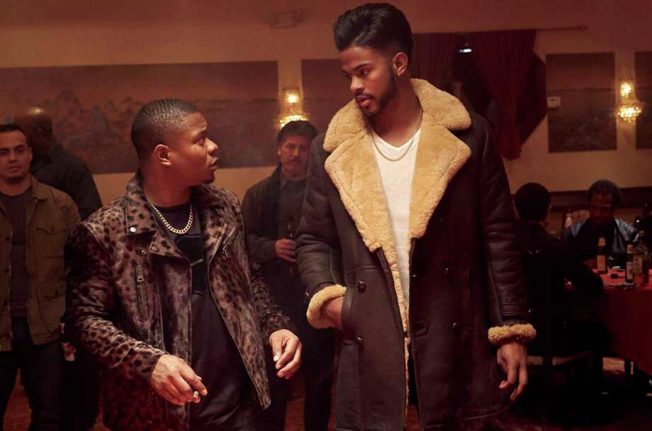 "Jason Mitchell and Trevor Jackson in the film, ""Superfly."" (Quantrell D. Colbert/CTMG) Photo: Quantrell D. Colbert/CTMG / Los Angeles Times"