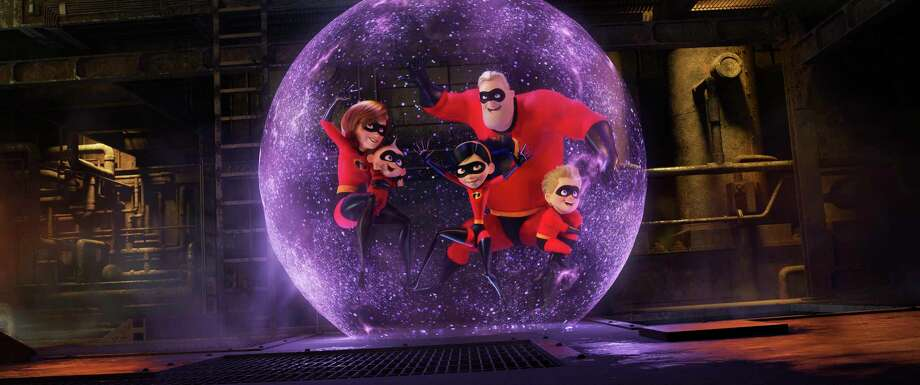 "This image released by Disney Pixar shows a scene from ""Incredibles 2,"" in theaters on June 15.  (Disney/Pixar via AP) Photo: Pixar / ©2017 Disney•Pixar. All Rights Reserved."