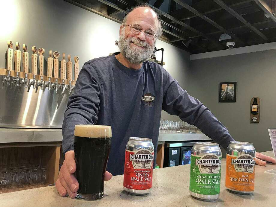 Scott Vallely, owner of Charter Oak Brewing, stands in the brewery's new taproom in Danbury, Conn., on Wednesday, June 13, 2018. Photo: Chris Bosak / Hearst Connecticut Media / The News-Times