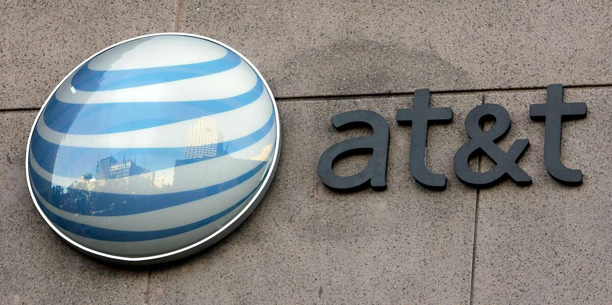 The new AT&T Corp. logo is unveiled at the headquarters in San Antonio, Monday, Nov. 21, 2005. The new AT&T logo will represent the merger of AT&T and SBC Communications Inc. (AP Photo/Eric Gay) Ran on: 11-23-2005 Workers gently lower the letter F from the word Pacific in 2004 as Pacific Bell Park began the transition to a new name, SBC Park.