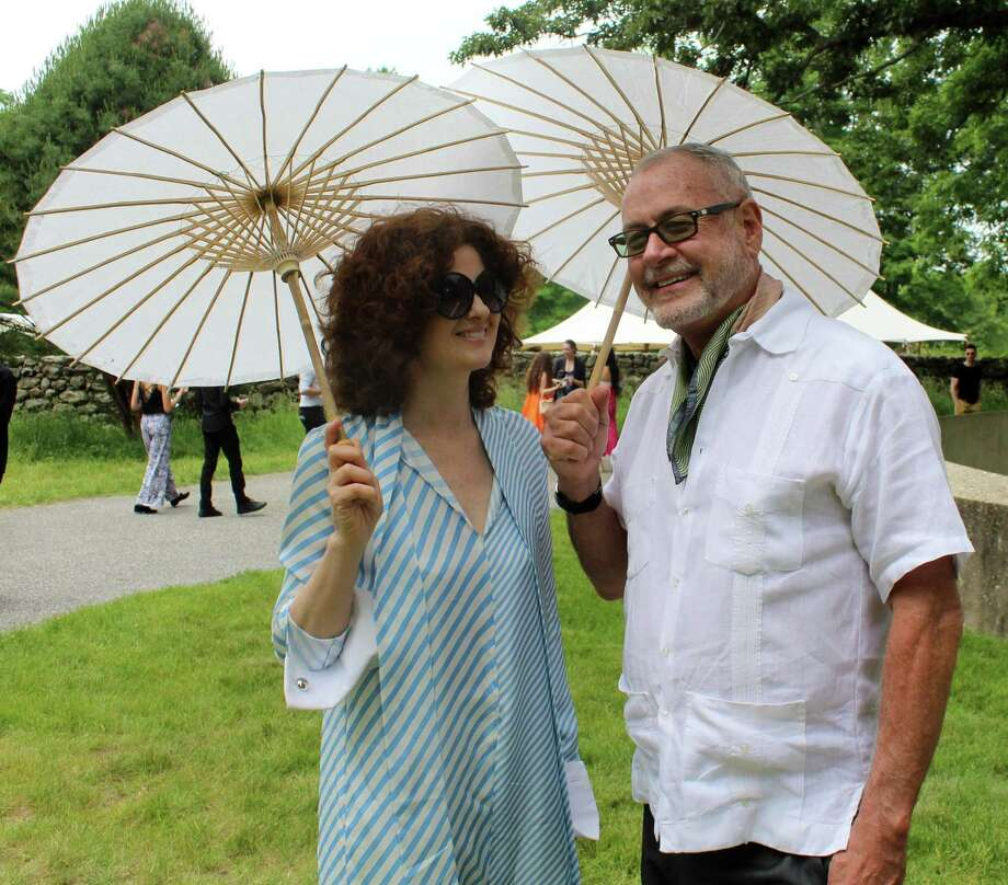 New York City residents Emma O'Neill and William Sofield came out to New Canaan for The Glass House Summer Party on June 9. Photo: Sophie Vaughan / Hearst Connecticut Media / Westport News