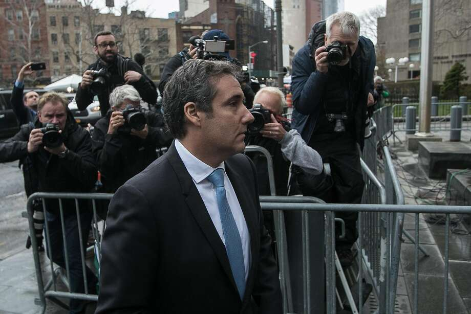 FILE — Michael Cohen, President Donald Trump's longtime fixer and attorney, arrives to a court hearing in Manhattan, April 16, 2018. Cohen will soon be parting from the lawyers who are representing him in a potentially damaging and wide-ranging federal investigation into his business dealings, according to two people familiar with the case, the New York Times reported on June 13. (Jeenah Moon/The New York Times) Photo: JEENAH MOON, NYT