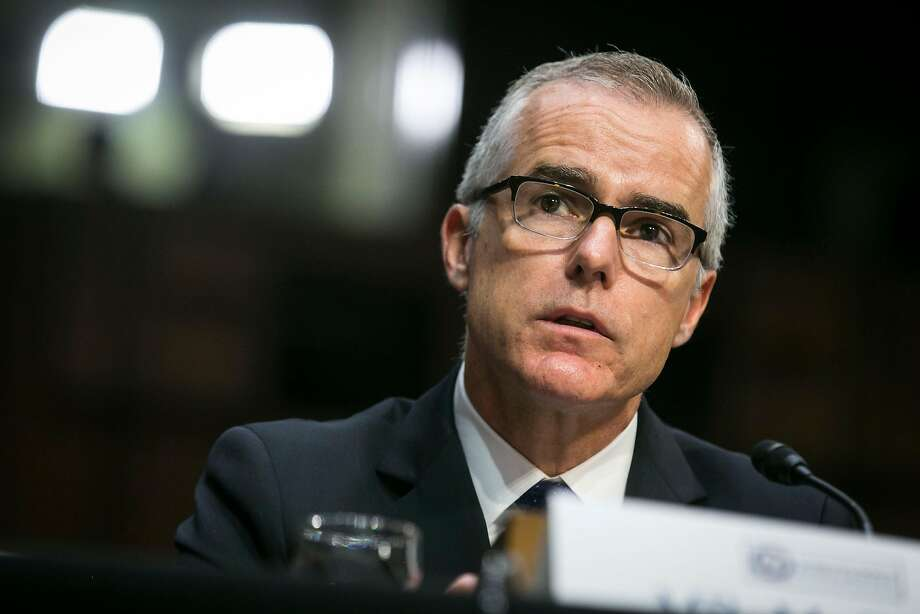 The lawsuit says Andrew McCabe has not been provided with documents related to his firing. Photo: AL DRAGO;Al Drago / New York Times