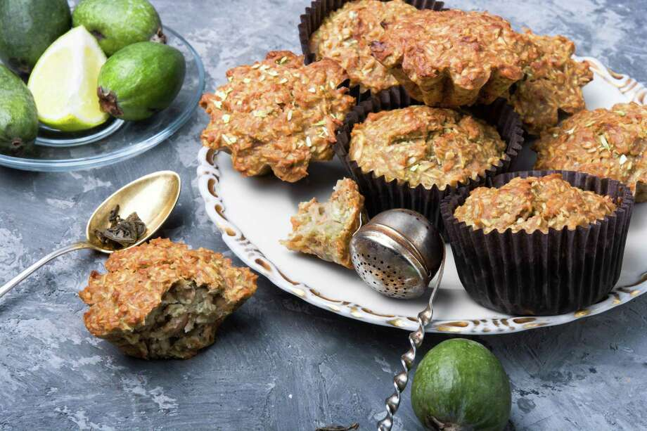 Feijoa, lemon and coconut muffins. Photo: Nikolay Donetsk /Getty Images / IStockphoto / This content is subject to copyright.