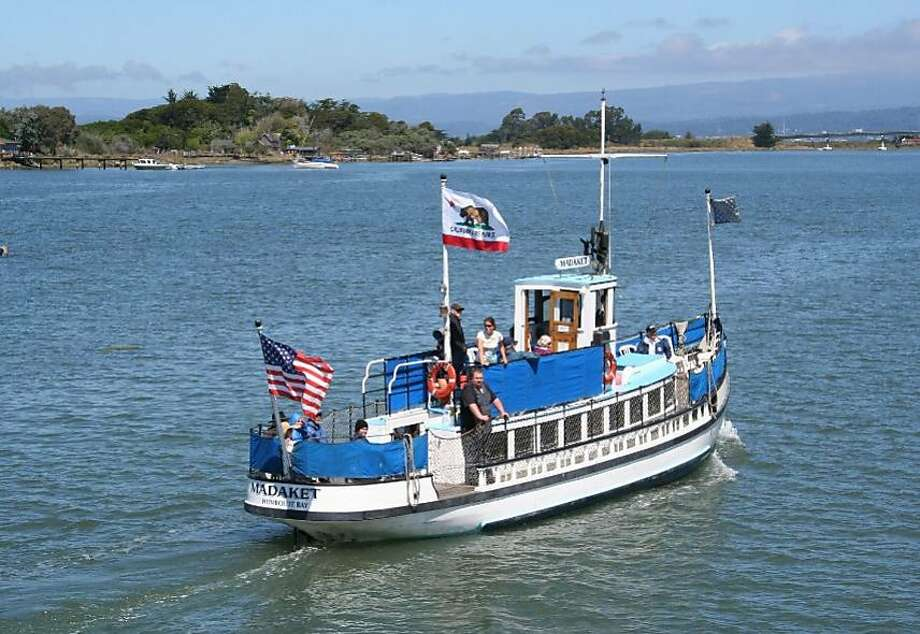 """During late spring and summer, Madaket offers a fantastic overview of the industry and wildlife that call Humboldt Bay home. A sunset cocktail tour on the state's """"smallest licenced bar"""" is also a favorite. Photo: Courtesy Madaket Cruises"""