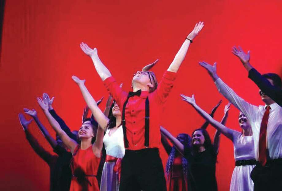 The Edwardsville High School Drama Club performs at the Fox Theatre. Photo:       Roberta Goeckner | For The Telegraph