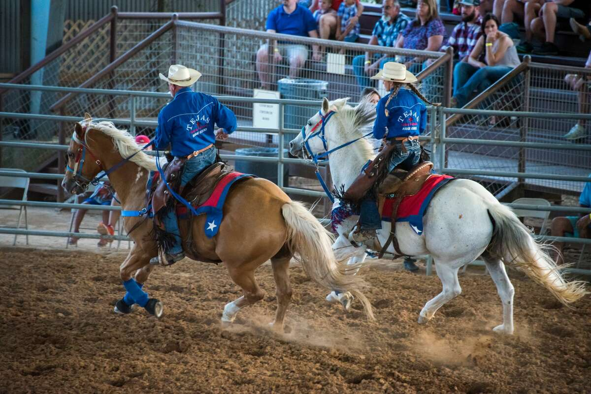 The Tejas Rodeo Rough Riders perform at the beginning of every rodeo, every Saturday March through November.