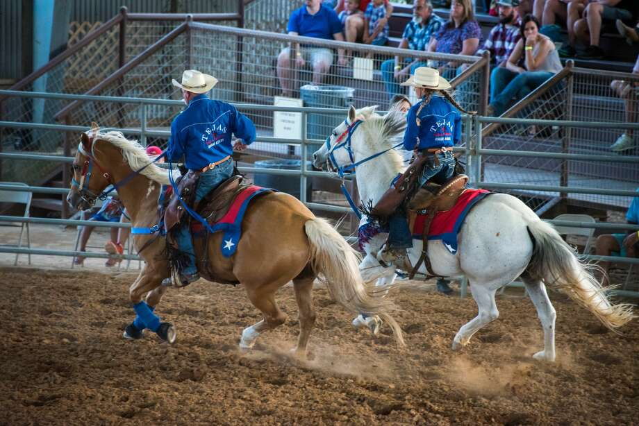 The Tejas Rodeo Rough Riders perform at the beginning of every rodeo, every Saturday March through November. Photo: Cassie Stricker