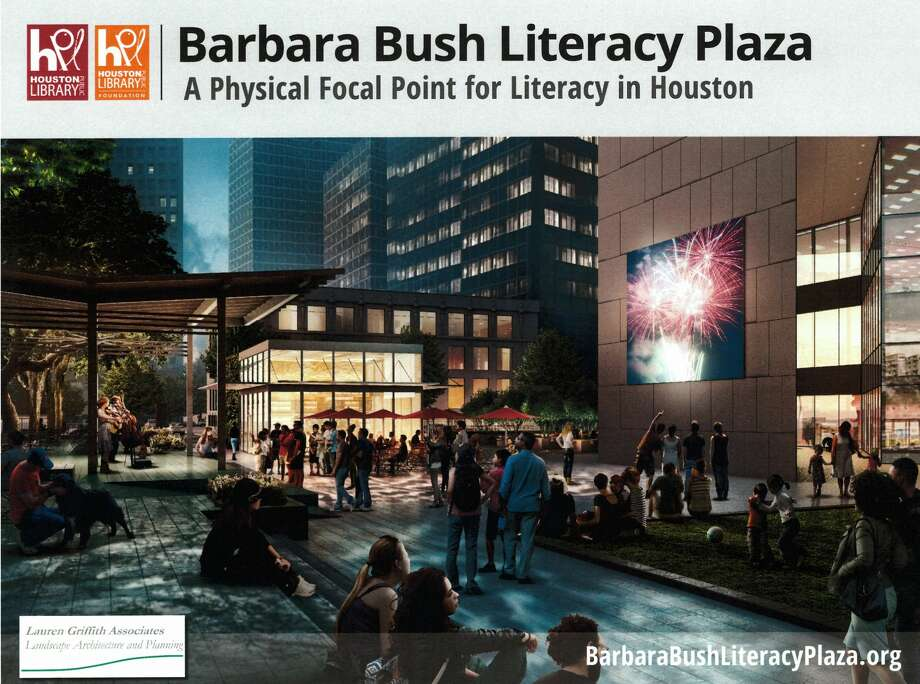 The outdoor plaza at the Houston Public Library's downtown campus will look much different within the next year. On Wednesday the Executive Director of the Houston Public Library Foundation, Sally Swanson, detailed what the second phase of the library's downtown development is shaping up to look like.