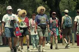 Fans outside of Stanford Stadium before a World Cup Game, June 26, 1994