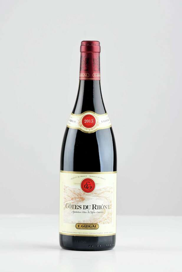 E Guigal, Cotes du Rhone red on Thursday, April 26, 2018, at the Times Union in Colonie, N.Y. (Will Waldron/Times Union) Photo: Will Waldron