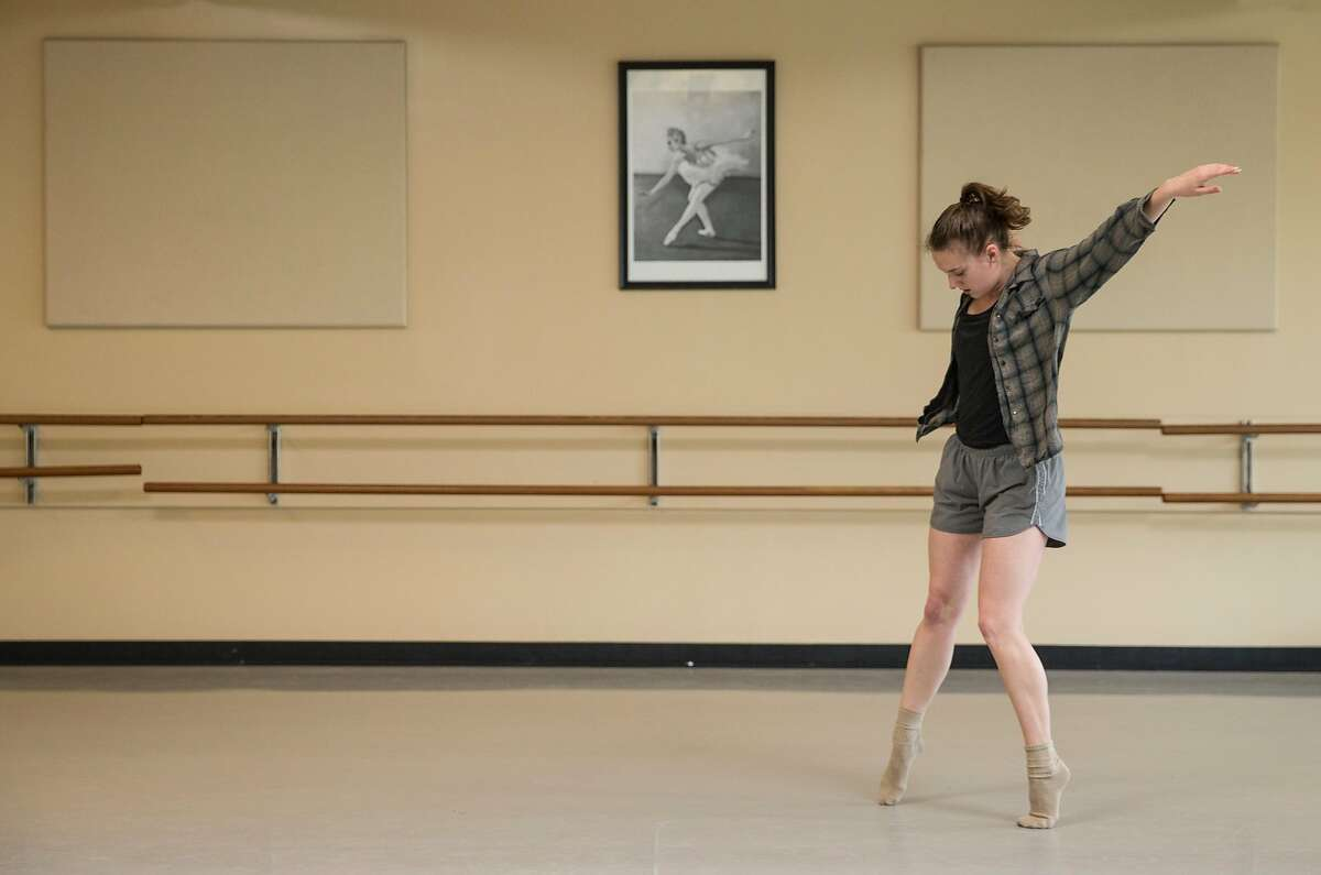 Emily Hansel, 23, rehearses for an upcoming performance Thursday, Jan. 25, 2018 at the ODC dance studio in San Francisco, Calif.