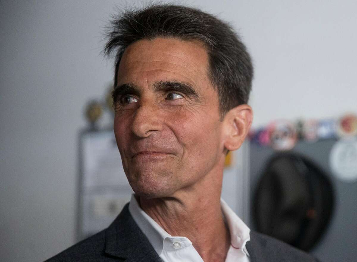 San Francisco mayoral candidate Mark Leno announces his concession to London Breed during a press conference held at his store, Budget Signs, in San Francisco, Calif. Wednesday, June 13, 2018.
