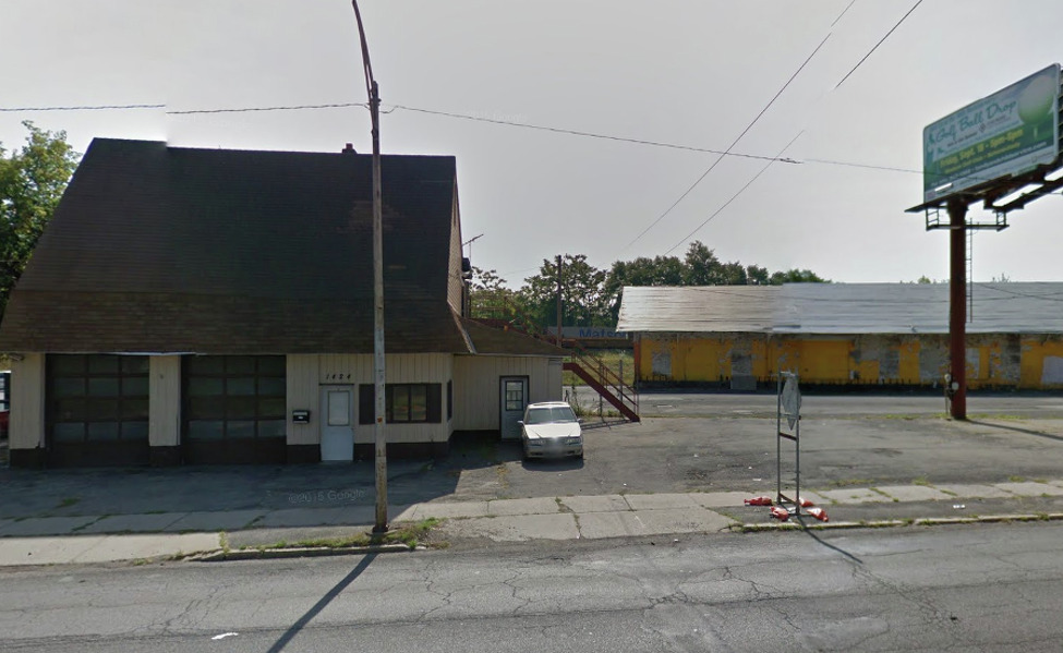 Global Partners LP wants to demolish the vacant structure at 1410-1424 Erie Blvd., Schenectady, and replace it with a 4,800-square-foot café and market called Alltown Fresh with a pergola and outdoor seating area. The adjacent gas station would consist of six pumps, according to plans submitted to the city's development office.