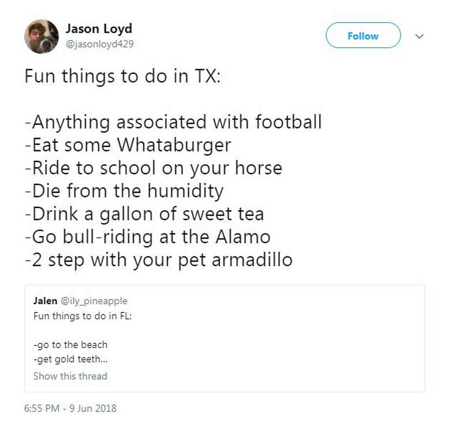 "@jasonloyd429: ""Fun things to do in TX: