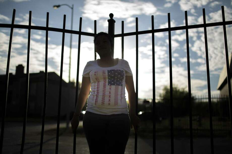 This is the daughter of Claudia Palma, who fled her native Honduras after suffering at the hands of her MS-13-affiliated boyfriend and is applied for asylum in 2014. Such claims will no longer be considered in asylum cases, Attorney General Jeff Sessions has decided. Photo: Eric Kayne /Eric Kayne / Eric Kayne