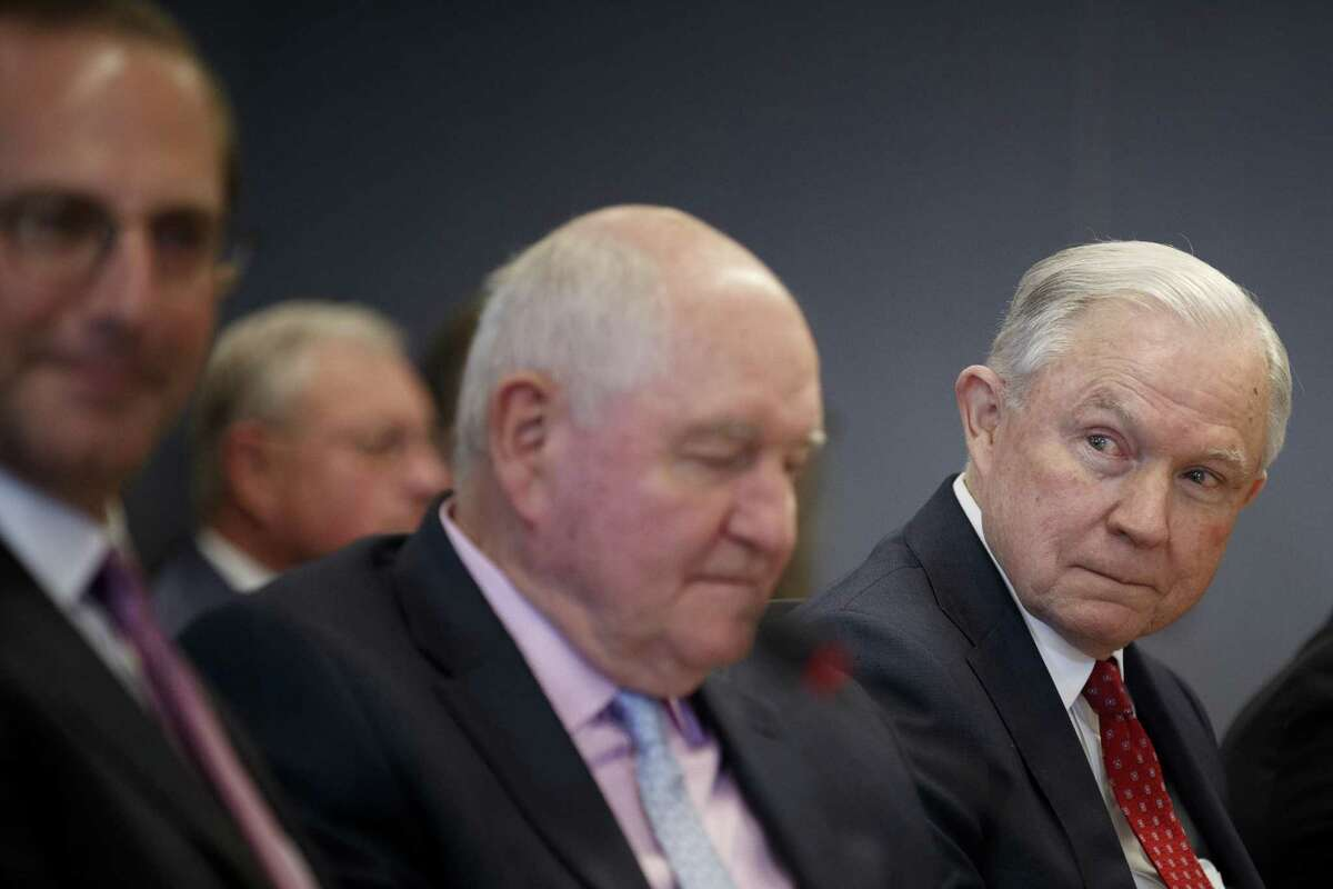 Attorney General Jeff Sessions during a meeting at the Federal Emergency Management Agency headquarters in Washington, June 6, 2018. Sessions, whose tenure as the nation?'s top law enforcement official has been broadly defined by his pursuit of immigration restrictions, remains deeply opposed to the policy known as Deferred Action for Childhood Arrivals. (Tom Brenner/The New York Times)
