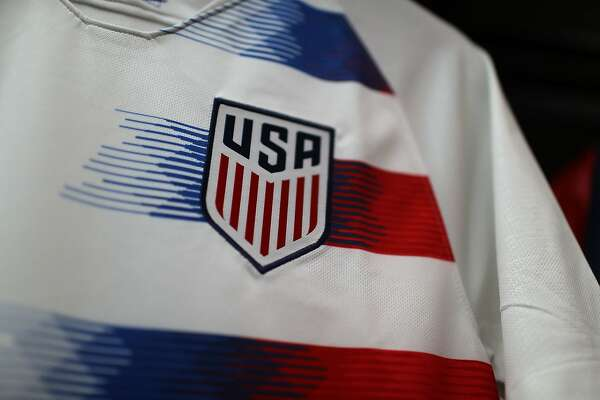 MIAMI, FL - JUNE 13:  Team USA jerseys are seen as the World Cup tournament being held in Russia is set to kickoff on June 13, 2018 in Miami, Florida. As the world prepares for the kickoff of the World Cup soccer tournament tomorrow, FIFA announced today that North America will host the tournament in 2026.  (Photo by Joe Raedle/Getty Images)