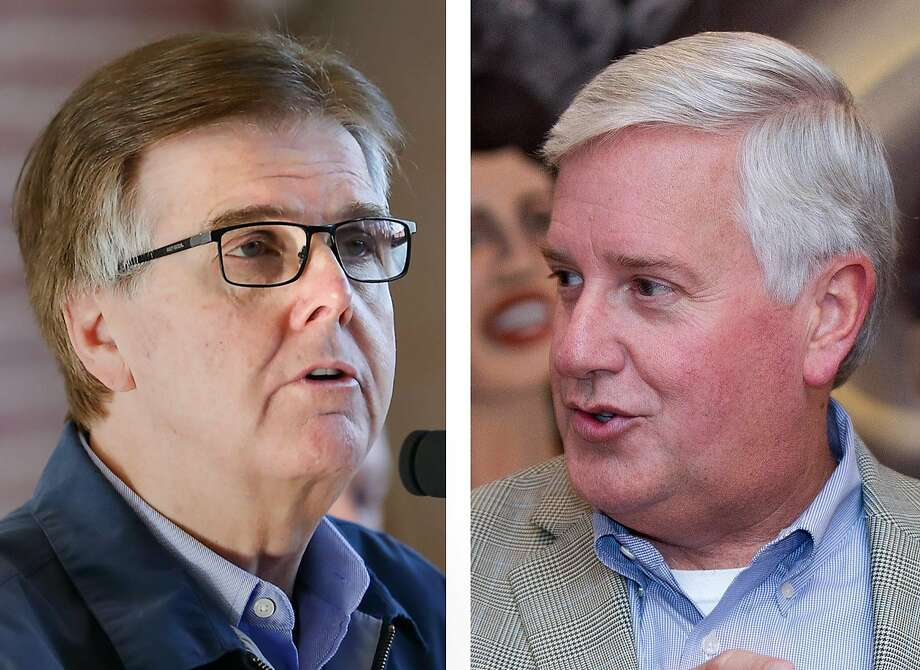 Lt. Gov. Dan Patrick, a Republican, left, and his Democratic challenger Mike Collier. Photo: Michael Minasi / Jason Fochtman, Houston Chronicle
