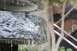 Detail of the fountain in the courtyard at the Bardessono resort in Yountville.