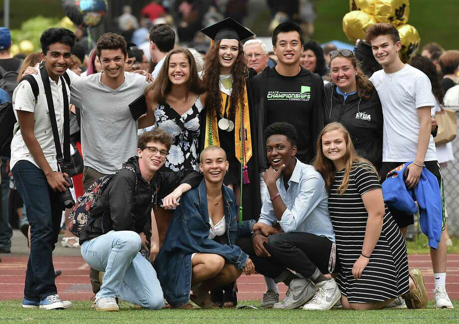 Images of Jonathan Law High School graduation for the class of 2018, Wednesday, June 13, in Milford. Photo: Catherine Avalone, Hearst Connecticut Media / New Haven Register