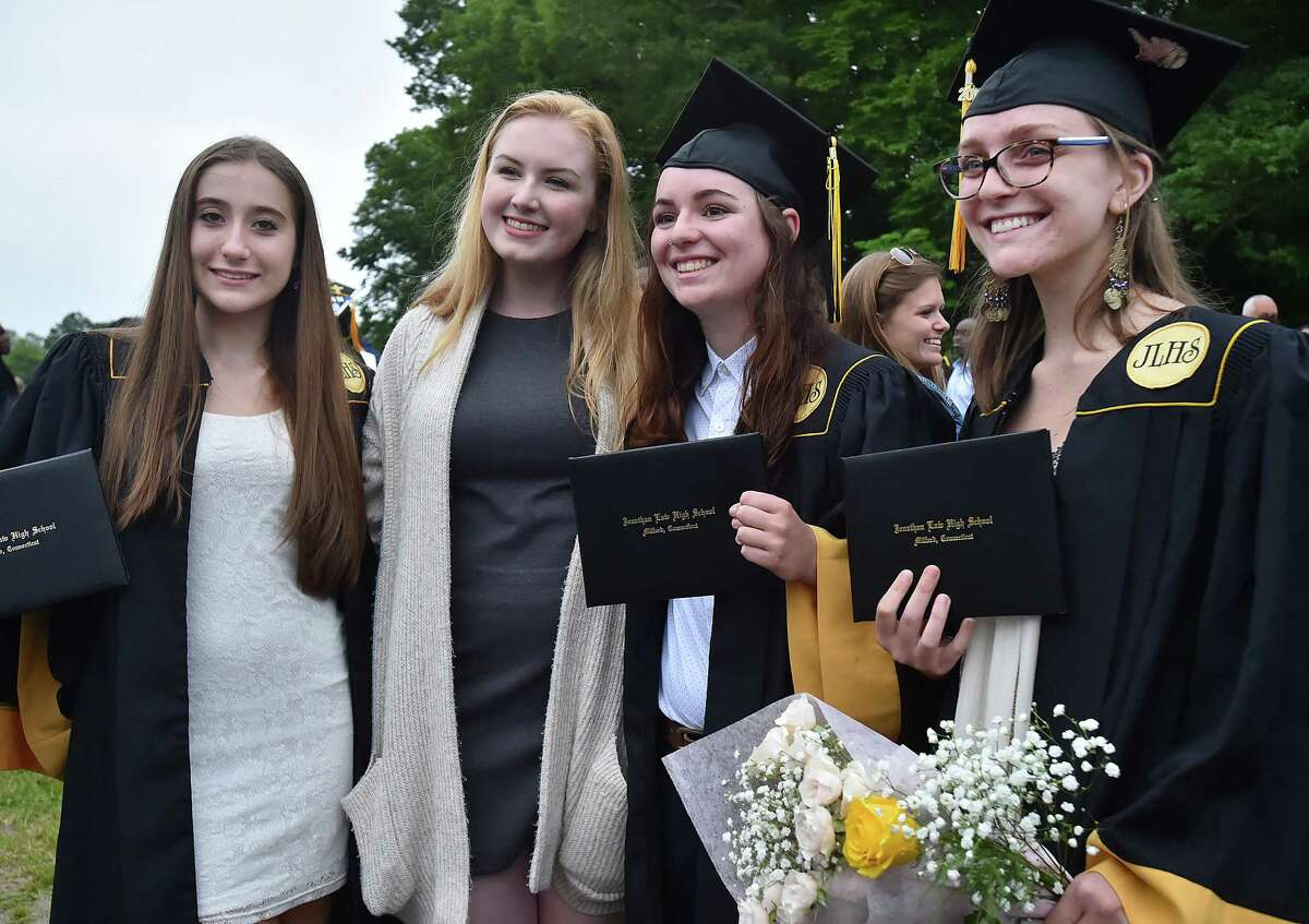 Images of Jonathan Law High School graduation for the class of 2018, Wednesday, June 13, in Milford.