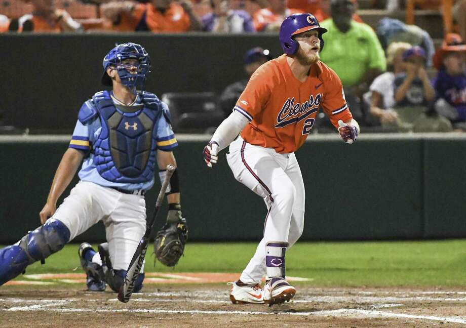 As a junior at Clemson this year, Seth Beer produced a .301/.456/.642 slash line with 22 homers and 54 RBIs in 63 games. He also drew 54 walks while striking out only 36 times. Photo: Ken Ruinard, MBR / Associated Press / The Independent-Mail