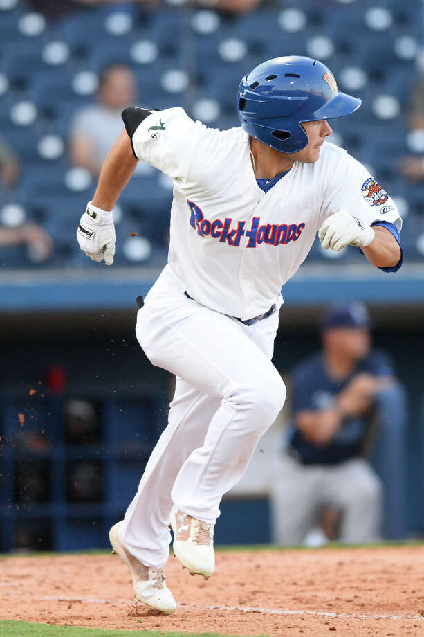 RockHounds' Tyler Ramirez hits against Corpus Christi June 13, 2018, at Security Bank Ballpark. James Durbin/Reporter-Telegram Photo: James Durbin / ? 2018 Midland Reporter-Telegram. All Rights Reserved.