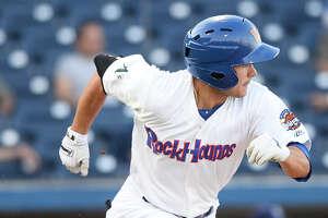 RockHounds' Tyler Ramirez hits against Corpus Christi June 13, 2018, at Security Bank Ballpark. James Durbin/Reporter-Telegram