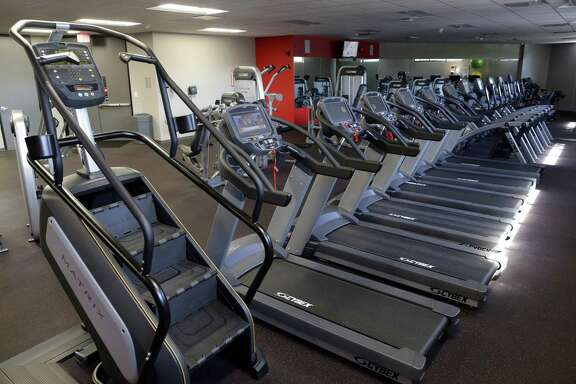 The on-site gym for employees at The Smith Group company headquarters Thursday, May 24, 2018, in Houston, TX. (Michael Wyke / For the  Chronicle)