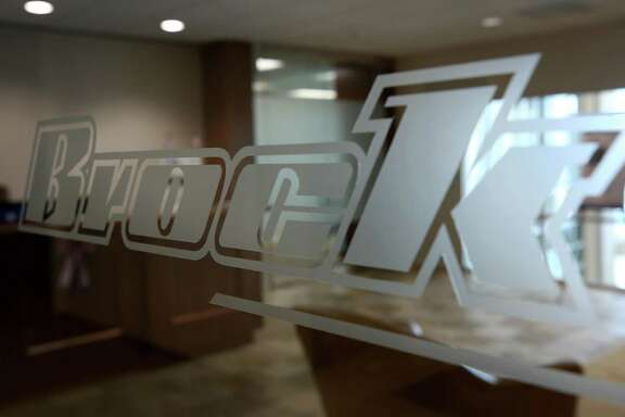 The Brock Group logo on entrance to office at 10343 Sam Houston Park Dr Tuesday, May 29, 2018, in Houston. ( Godofredo A. Vasquez / Houston Chronicle )